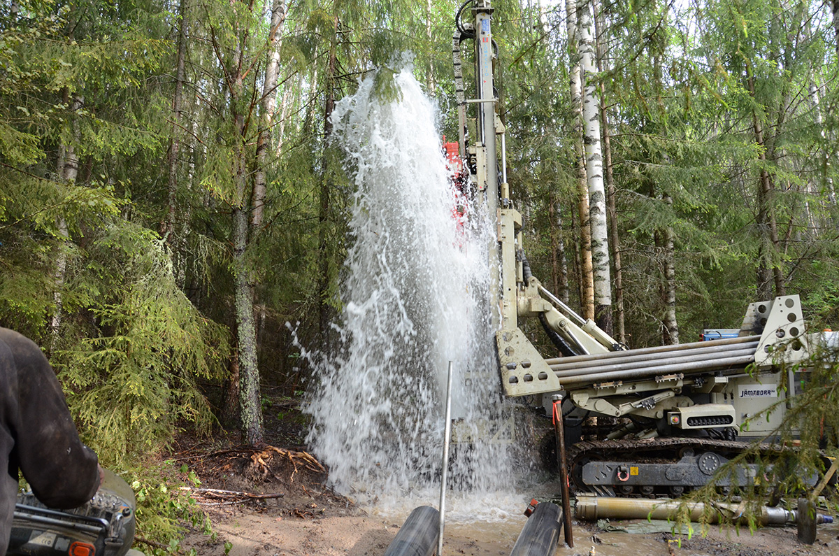 Borrning av formationsfilterbrunn Järvsö